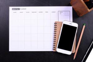 calendario per organizzare lavoro settimanale