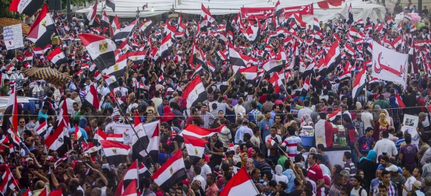 rivolte in piazza in tunisia